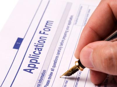 filling the application form