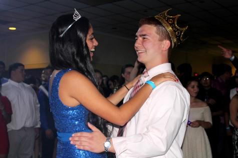 Homecoming King & Queen slow dancing