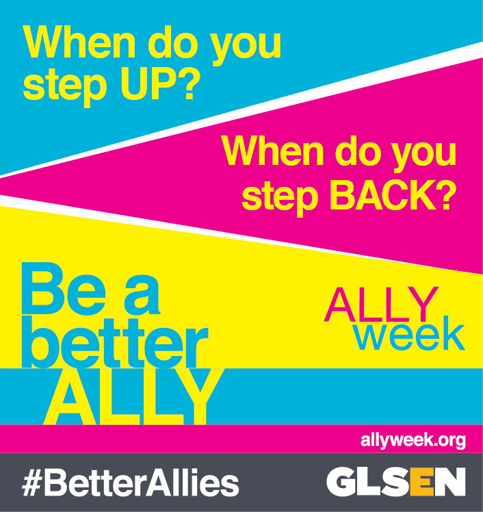 Show your support for the LGBTQ Community by becoming an Ally!