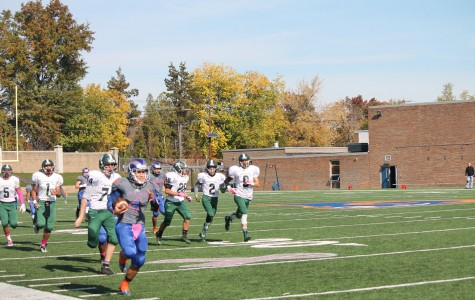 Captain Steven Villa returning a kickoff to score the Rams' first touchdown of the game.