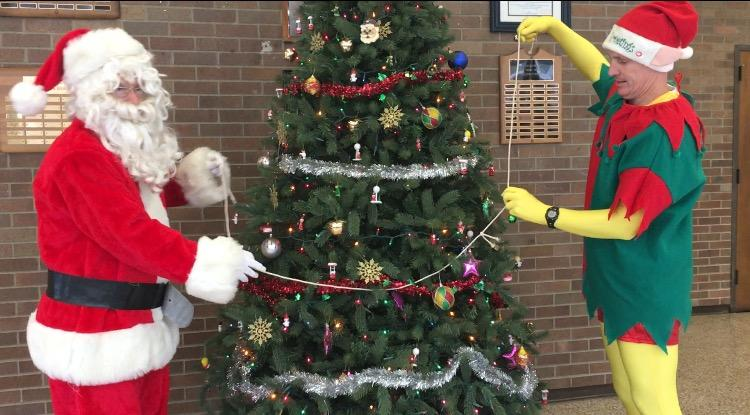 Santa and Rudy Visit LHS