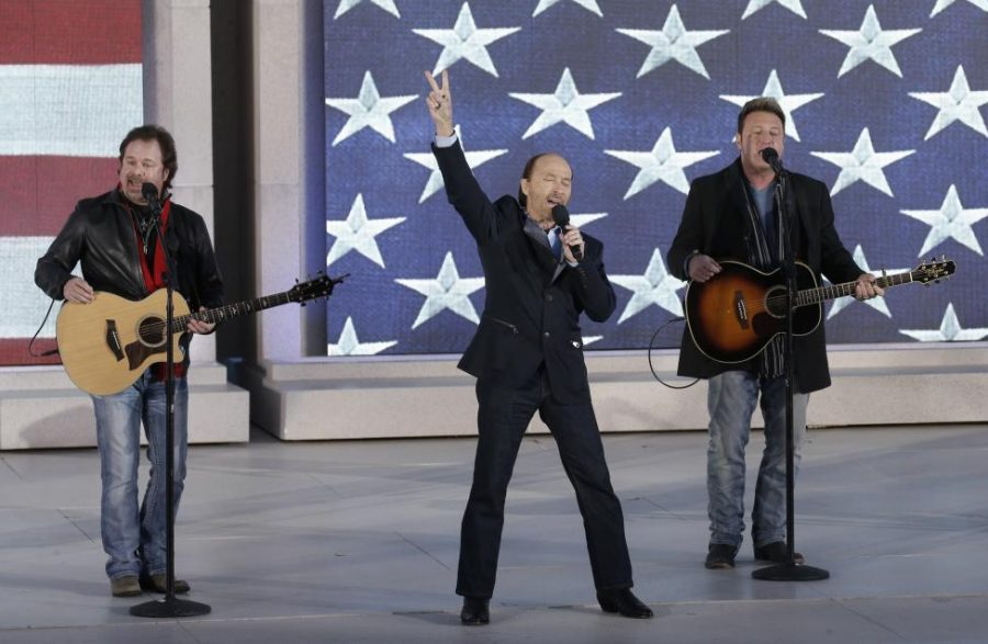 Lee Greenwood performs with the Frontmen of Country during the