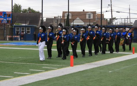 Marching Band taking the field