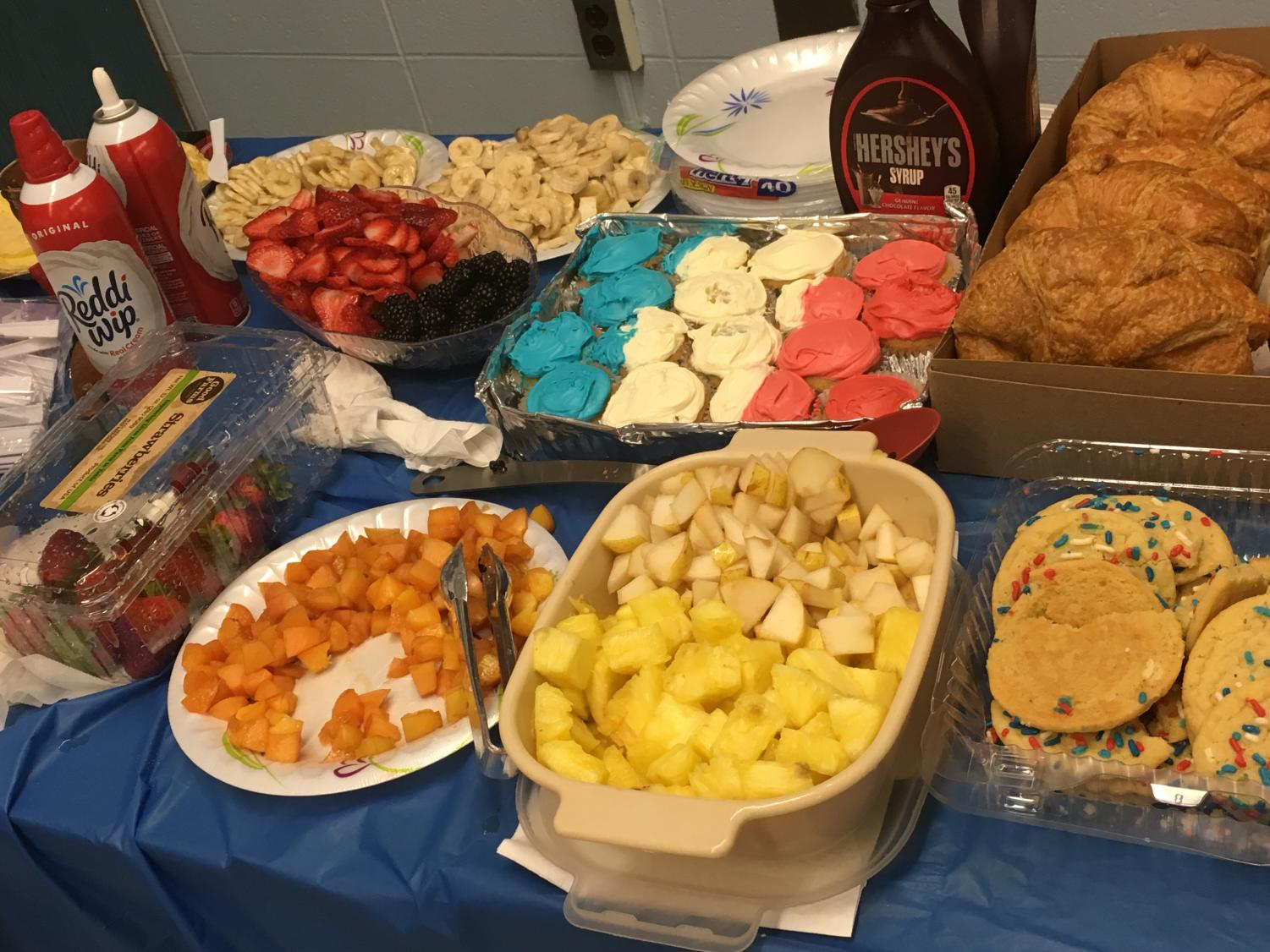 The+selection+of+food+for+the+celebration