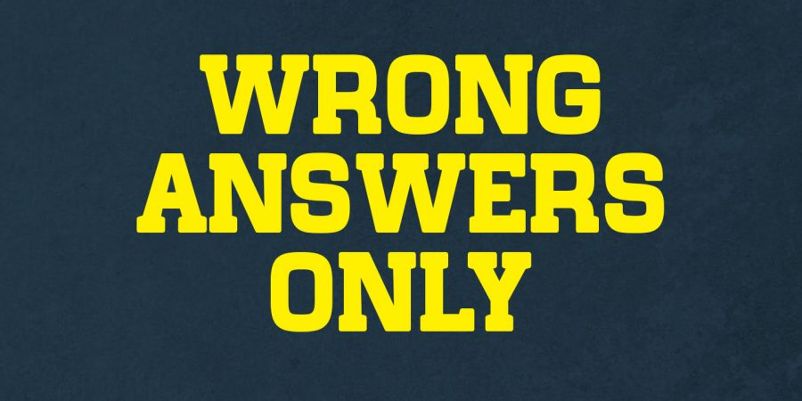 Wrong Answers Only: Can You Get it Right?