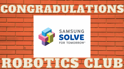 Congratulations Robotics Club!